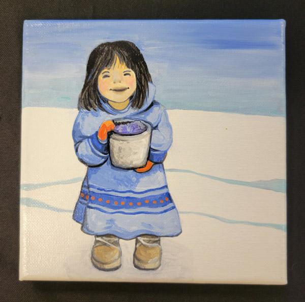 Winter Girl - 6x6 Fundraiser - Cecil County Arts Council