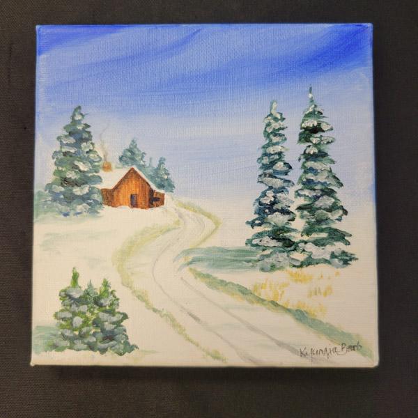 Winter Cabin - 6x6 Fundraiser - Cecil County Arts Council