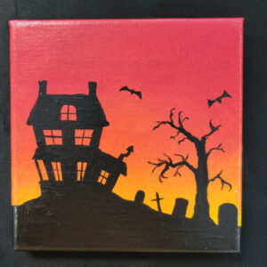 Haunted House Silhouette - 6x6 Fundraiser - Cecil County Arts Council