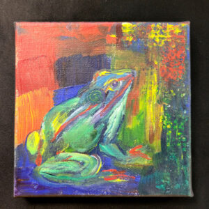 Abstract Frog - 6x6 Fundraiser - Cecil County Arts Council