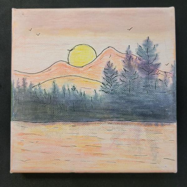 Mountain Landscape - 6x6 Fundraiser - Cecil County Arts Council