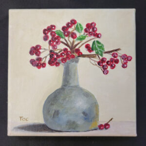 Berry Flowers - 6x6 Fundraiser - Cecil County Arts Council