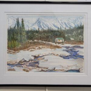 Barb Kyugja - Closed for the Season (winter scene) - $200